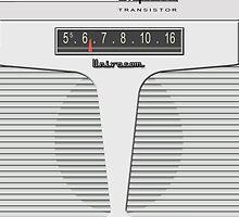 Vintage Transistor Radio - Impala White by ubiquitoid