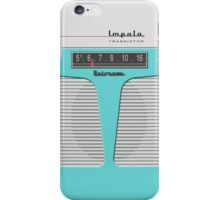 Vintage Transistor Radio - Impala Aqua iPhone Case/Skin