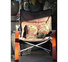 Porch chair, Lydia Street Photographic Print
