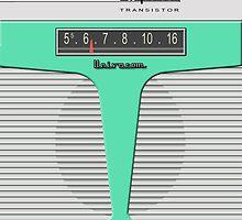 Vintage Transistor Radio - Impala Surf Green by ubiquitoid