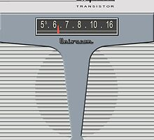 Vintage Transistor Radio - Impala Gray by ubiquitoid