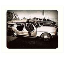 Surfer dude car Art Print