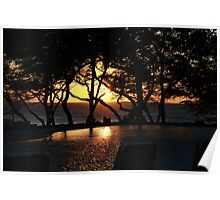 Ocean Sunset Reflection Poster