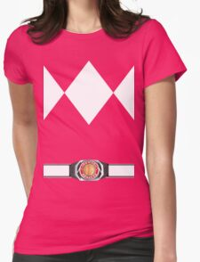 MMPR Pink Ranger Uniform Womens Fitted T-Shirt