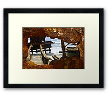 Fraser Island , Maheno Shipwreck  Framed Print