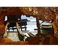 Fraser Island , Maheno Shipwreck  Photographic Print