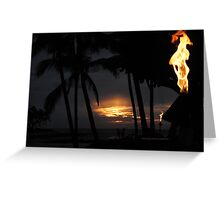 Waikoloa Sunset II Greeting Card
