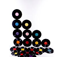 OLD Vinyls  Photographic Print