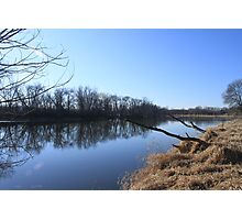 Part 1 By the water. Fox river Berlin, Wisconsin Photographic Print