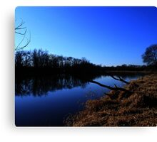 Part 3 by the water. Berlin, Wisconsin, Fox river Canvas Print