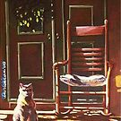 Cat and rocking chair by Dan Wilcox