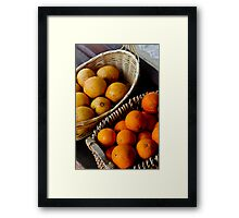 Oranges and Lemons .........its all the same  Framed Print