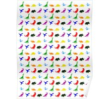 Colourful Dinosaurs Pattern Poster