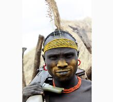 Mursi tribesmen. A nomadic cattle herder ethnic group located in Southern Ethiopia,  T-Shirt