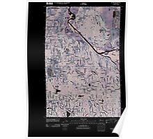USGS Topo Map Washington State WA Maltby 20110504 TM Inverted Poster