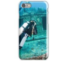 Divers at a shipwreck at Ras Mohammed National Park iPhone Case/Skin