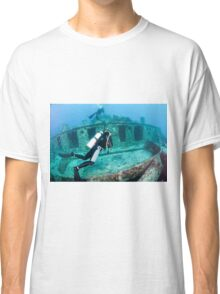 Divers at a shipwreck at Ras Mohammed National Park Classic T-Shirt