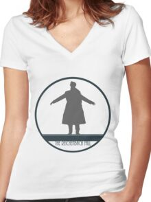 Sherlock: The Fall Women's Fitted V-Neck T-Shirt