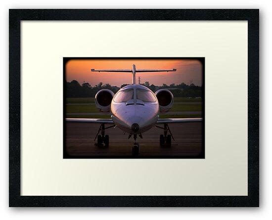 Corporate Jet by doorfrontphotos