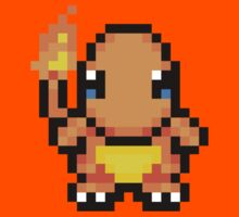 Adorable Charmander 16bit - Pokemon - Nawww Kids Clothes