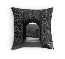 Through the Arch.Urquhart Castle Throw Pillow