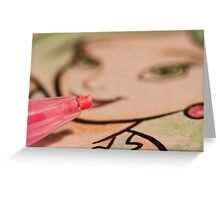 Coloured Greeting Card