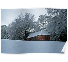 Pavilion In The Snow Poster