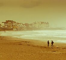 Seaton Carew beach by David Hall
