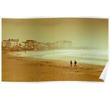 Seaton Carew beach Poster