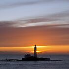 St. Mary's Lighthouse Sunrise by David Pringle