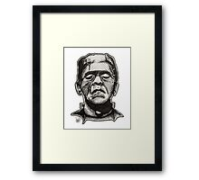Frankenstein pen drawing! Framed Print