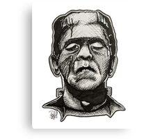 Frankenstein pen drawing! Canvas Print