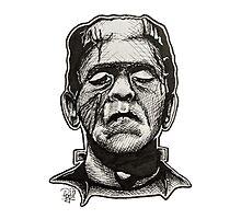 Frankenstein pen drawing! Photographic Print