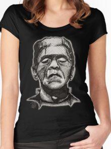Frankenstein pen drawing! Women's Fitted Scoop T-Shirt