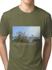 Above Lake Michigan Tri-blend T-Shirt
