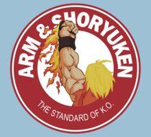 Arm & Shoryuken. The Standard of K.O. One Piece - Short Sleeve