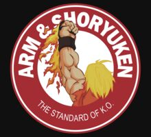 Arm & Shoryuken. The Standard of K.O. One Piece - Short Sleeve