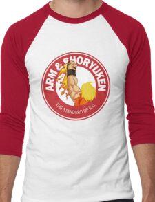 Arm & Shoryuken. The Standard of K.O. Men's Baseball ¾ T-Shirt