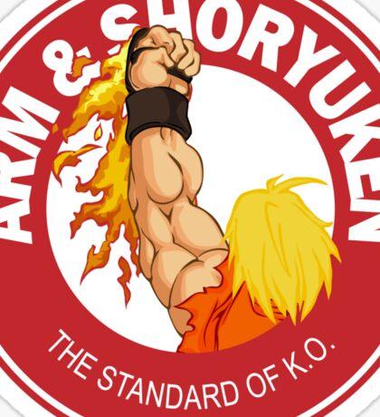 Arm & Shoryuken. The Standard of K.O. Sticker
