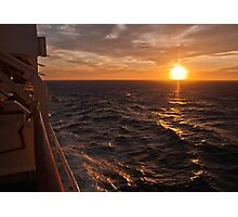 Sunset on starboard Photographic Print