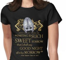 Shakespeare Romeo & Juliet Sweet Sorrow Quote Womens Fitted T-Shirt