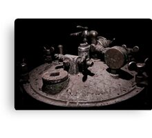 Old Mine Equipment Steam Punk Canvas Print