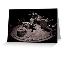 Old Mine Equipment Steam Punk Greeting Card