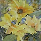 Sunflowers in the sunshine by Anne Bonner