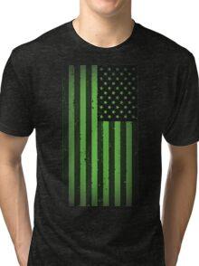 American idiot flag- Green Day Tri-blend T-Shirt