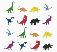 Fun Dinosaur Pattern Kids Clothes