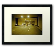 "Walking through ""Rheinufer"" tunnel, Düsseldorf, NRW, Germany. Framed Print"