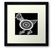 Grey Chicken Framed Print