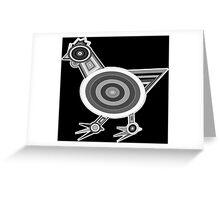 Grey Chicken Greeting Card