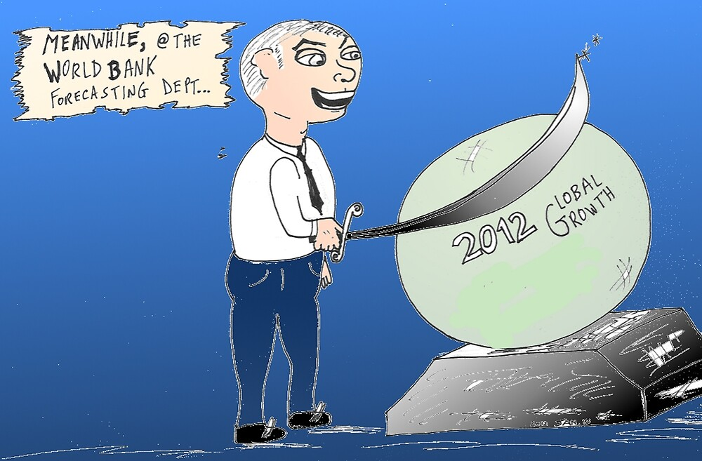 binary options editorial cartoon - Global Growth estimates cut by World Bank by Binary-Options